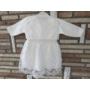 Kép 2/8 - Törtfehér kislány keresztelő/alkalmi ruha boleróval