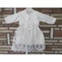 Kép 1/8 - Törtfehér kislány keresztelő/alkalmi ruha boleróval