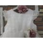 Kép 14/15 - Gyönyörű, hófehér alkalmi/keresztelő kislány ruha