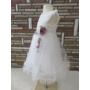Kép 2/15 - Gyönyörű, hófehér alkalmi/keresztelő kislány ruha