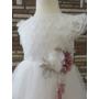 Kép 9/15 - Gyönyörű, hófehér alkalmi/keresztelő kislány ruha