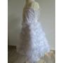 Kép 10/10 - Hófehér, gyönyörű, habos-babos kislány alkalmi ruha