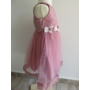 Kép 2/8 - Elegáns mályva-fehér csipkés kislány ruha