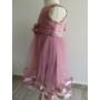 Kép 2/7 - Elegáns mályva színű kislány ruha