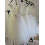 Kép 11/11 - Gyönyörű törtfehér kislány keresztelő/elsőáldozó ruha