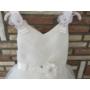 Kép 2/11 - Gyönyörű törtfehér kislány keresztelő/elsőáldozó ruha