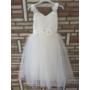 Kép 3/11 - Gyönyörű törtfehér kislány keresztelő/elsőáldozó ruha