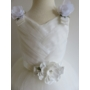 Kép 4/11 - Gyönyörű törtfehér kislány keresztelő/elsőáldozó ruha