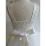 Kép 8/11 - Gyönyörű törtfehér kislány keresztelő/elsőáldozó ruha
