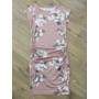 Kép 3/4 - Elegáns, virágmintás pasztell mályva kismama ruha (XL)