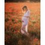 Kép 3/6 - Hófehér, csipkés kismama ruha fotózásra