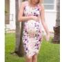 Kép 1/6 - Könnyű, nyári, virágmintás szoptatós kismama ruha