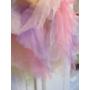 Kép 3/4 - Többszínű kislány tüll szoknya - sárga
