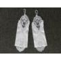Kép 2/4 - Hófehér menyasszonyi hímzett kesztyű (1 pár)